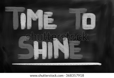 Time To Shine Concept - stock photo
