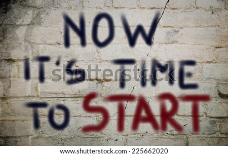 Time To Start Concept - stock photo