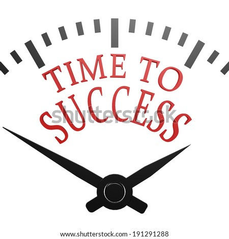 Time to success - stock photo
