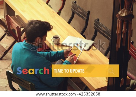 Time To Update - stock photo