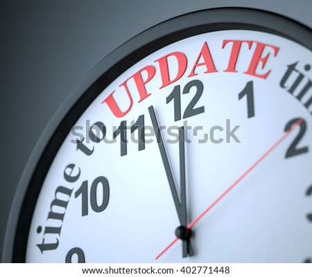 Time to Update , 3d render - stock photo