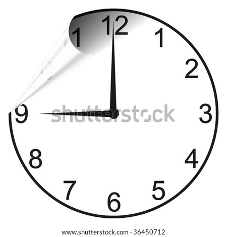 Time unfilding - stock photo