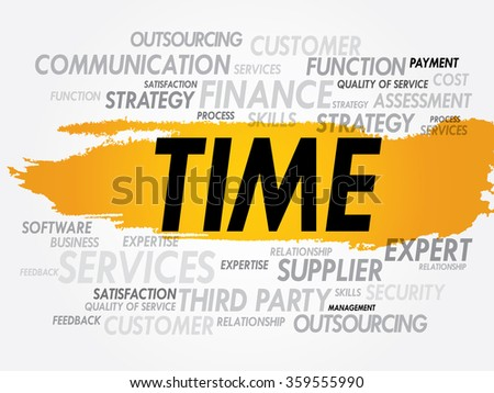 TIME word cloud, business concept background - stock photo