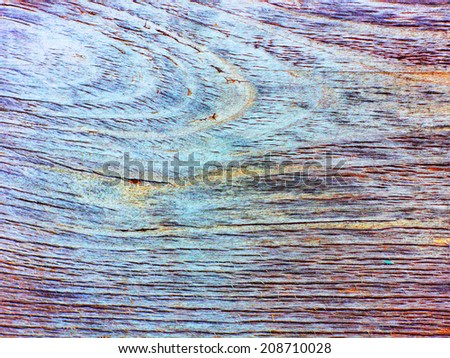 Time-worn old wood texture with fiber. Flat board with no branches. Longitudinal cracks. Impressionism background.
