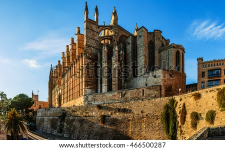 Timelapse: Cathedral of Santa Maria of Palma, more commonly referred to as La Seu, is Gothic Roman Catholic cathedral located in Palma, Majorca, Spain, built on site of a pre-existing Arab mosque.