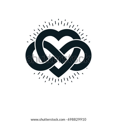 Timeless Love Concept Symbol Created Infinity Stock Illustration