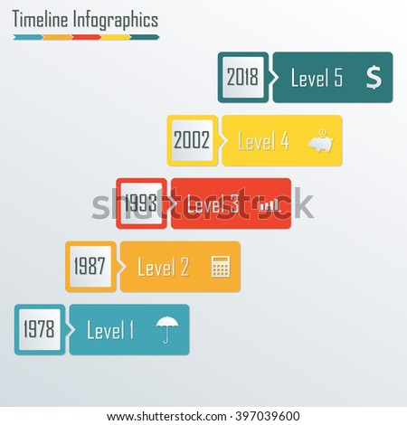Timeline Infographics template. Step infograph.