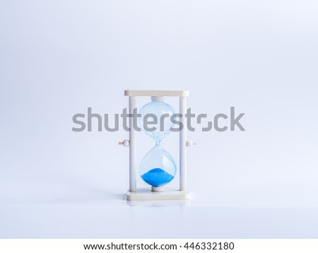Timeout hourglass and gray background.