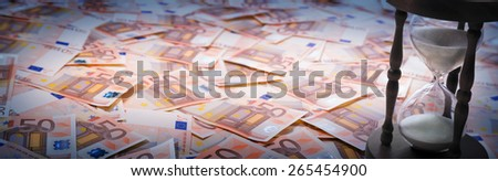 timer euro - loan concept - with empty de-focus copy space for text  - stock photo