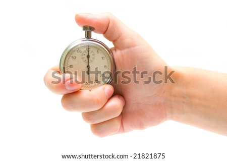 Timer in hand