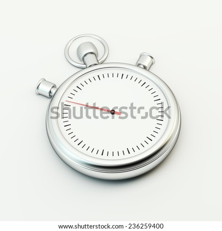 Timer on white background - stock photo