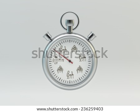 Timer on white background