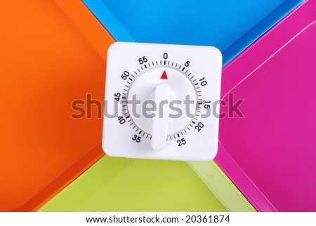 timerset on colorful background - stock photo