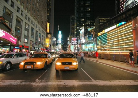 Times Square and Taxis