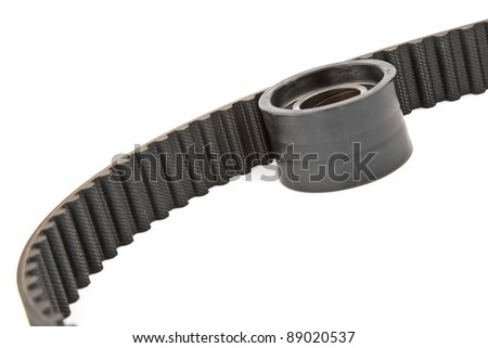 timing belt and roller - stock photo