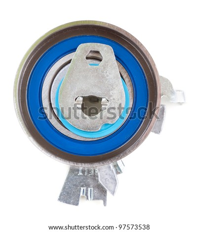 Timing tensioner, isolate on white - stock photo