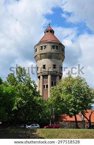 timisoara city romania water tower landmark architecture - stock photo