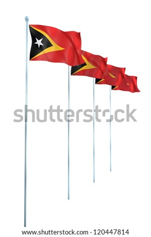Timor Leste Flag Detail Render