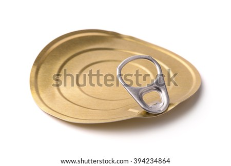 Tin ?an lid isolated on white - stock photo