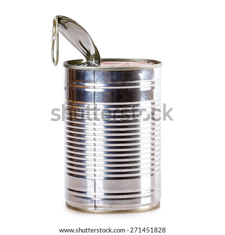 tin can Canned metal blank - stock photo
