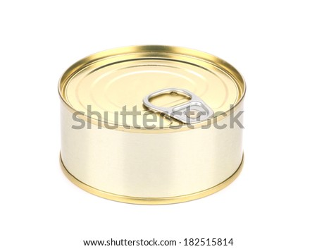 Tin can. Isolated on a white background. - stock photo