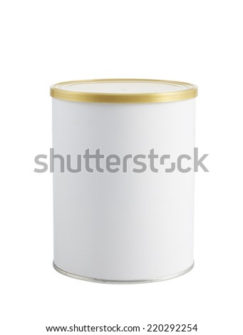 Tin can isolated on white - stock photo