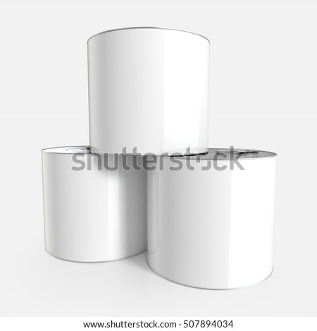 Tin can mockup isolated. 3d rendering.