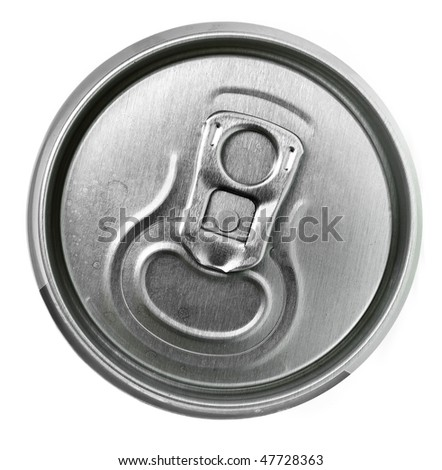 Tin can top isolated on the white - stock photo