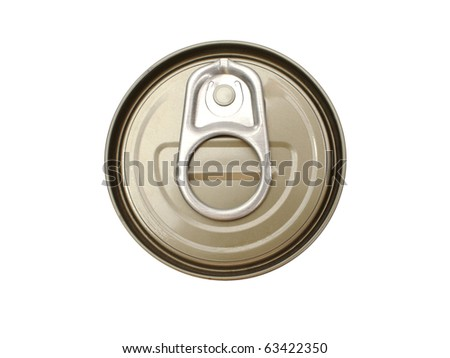 tin can top isolated on white background