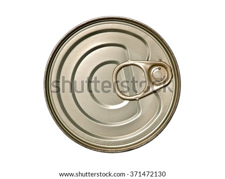 Tin can, top view - stock photo