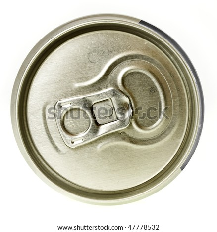Tin can , top view isolated on the white
