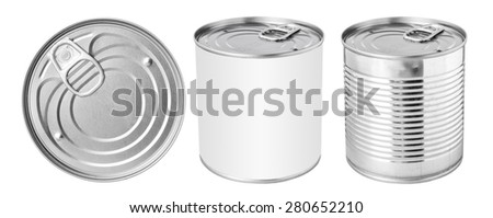 Tin can with ring pull - stock photo