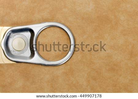 Tin can with ring pull with label for easy addition of text or logo background - stock photo