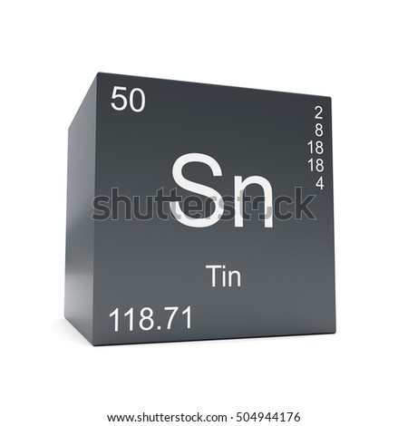 Tin chemical element symbol periodic table stock illustration tin chemical element symbol from the periodic table displayed on black cube 3d render urtaz Gallery