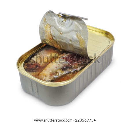 tin fish - stock photo
