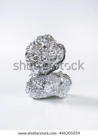 Tin foil balls - stock photo