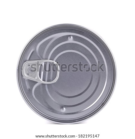 Tin lid. Isolated on a white background.