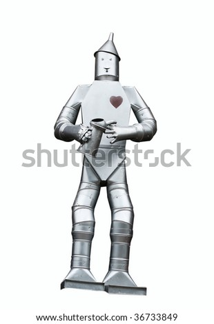 tin man with clipping path