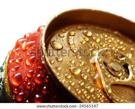 tin of drink - stock photo