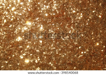 tinsel texture, realistic background of gold particles - stock photo
