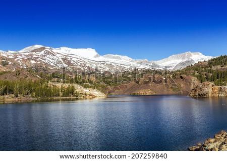 Tioga Pass, Yosemite National Park, California, USA - stock photo