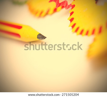 tip of a pencil. close-up, shallow depth of field.  - stock photo