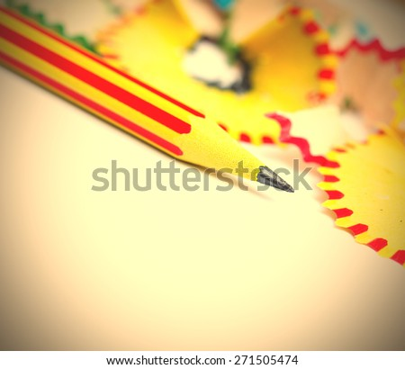 tip of a striped pencil. close-up, shallow depth of field. i - stock photo