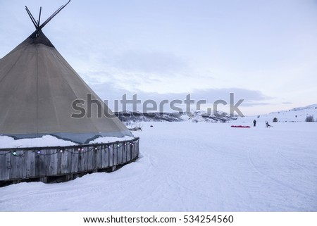 Tipi in Kirkenes forest Norway