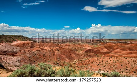 Tiponi Point, Painted Desert, Petrified Forest National Park on Route 66, near Holbrook, Arizona - stock photo