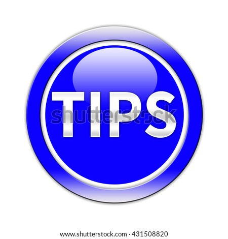 Tips Button isolated