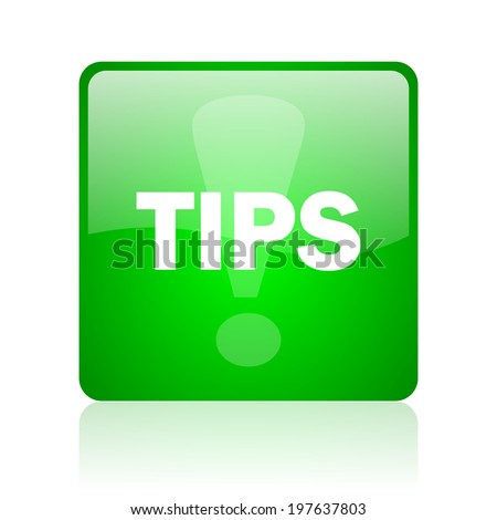 tips computer icon on white background