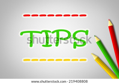 Tips Concept text on background - stock photo