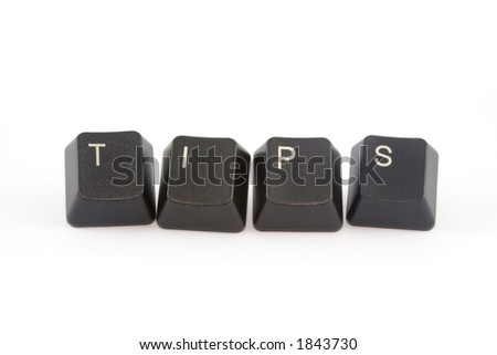 TIPS formed by keys of a computer keyboard