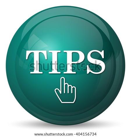 Tips icon. Internet button on white background. - stock photo